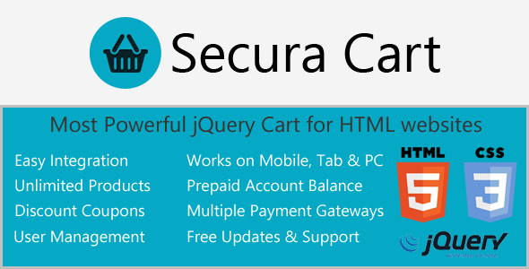 CodeCanyon Ajax Cart for HTML websites with Digital Products v2.0