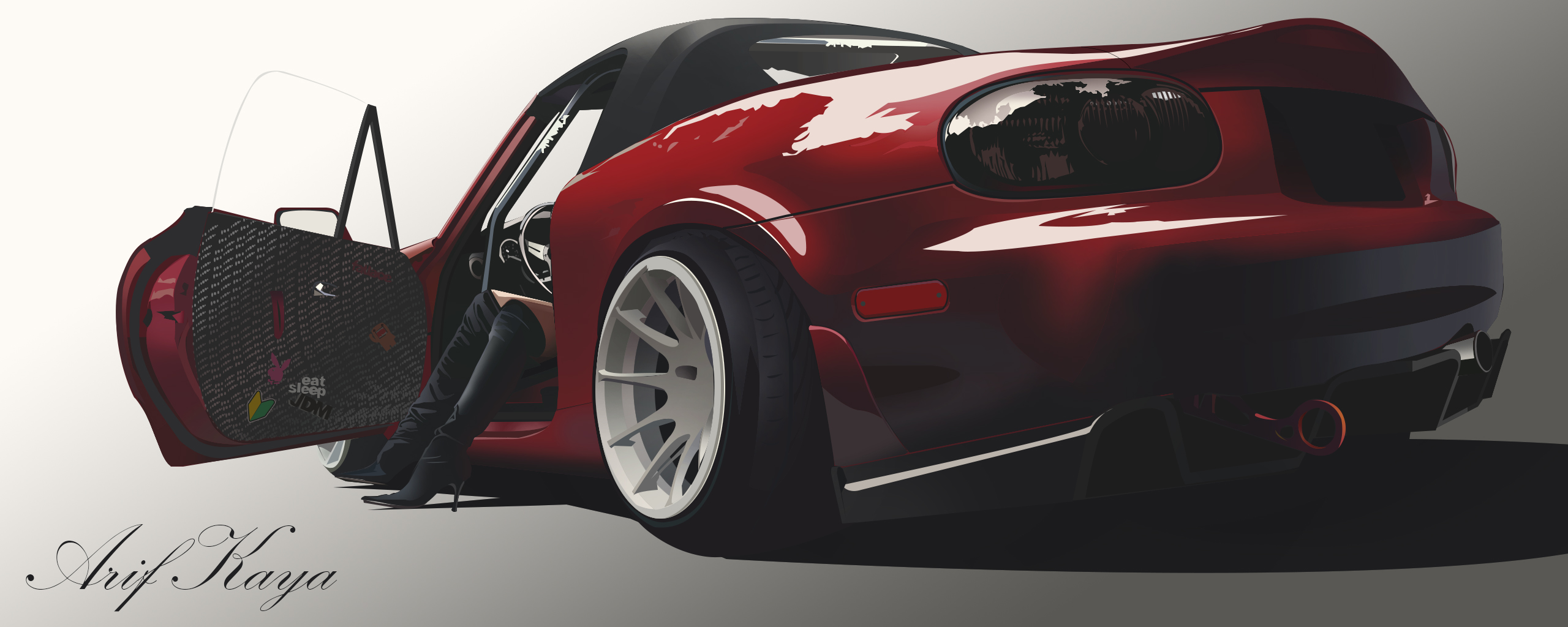 Photoshop Mazda miata(mx5) �izim