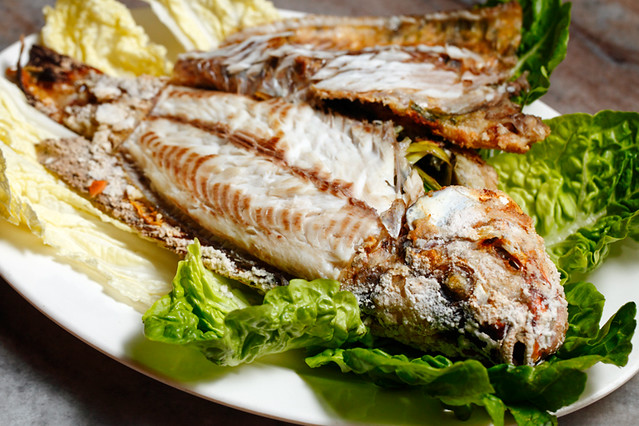 BBQ Salt Baked Fish