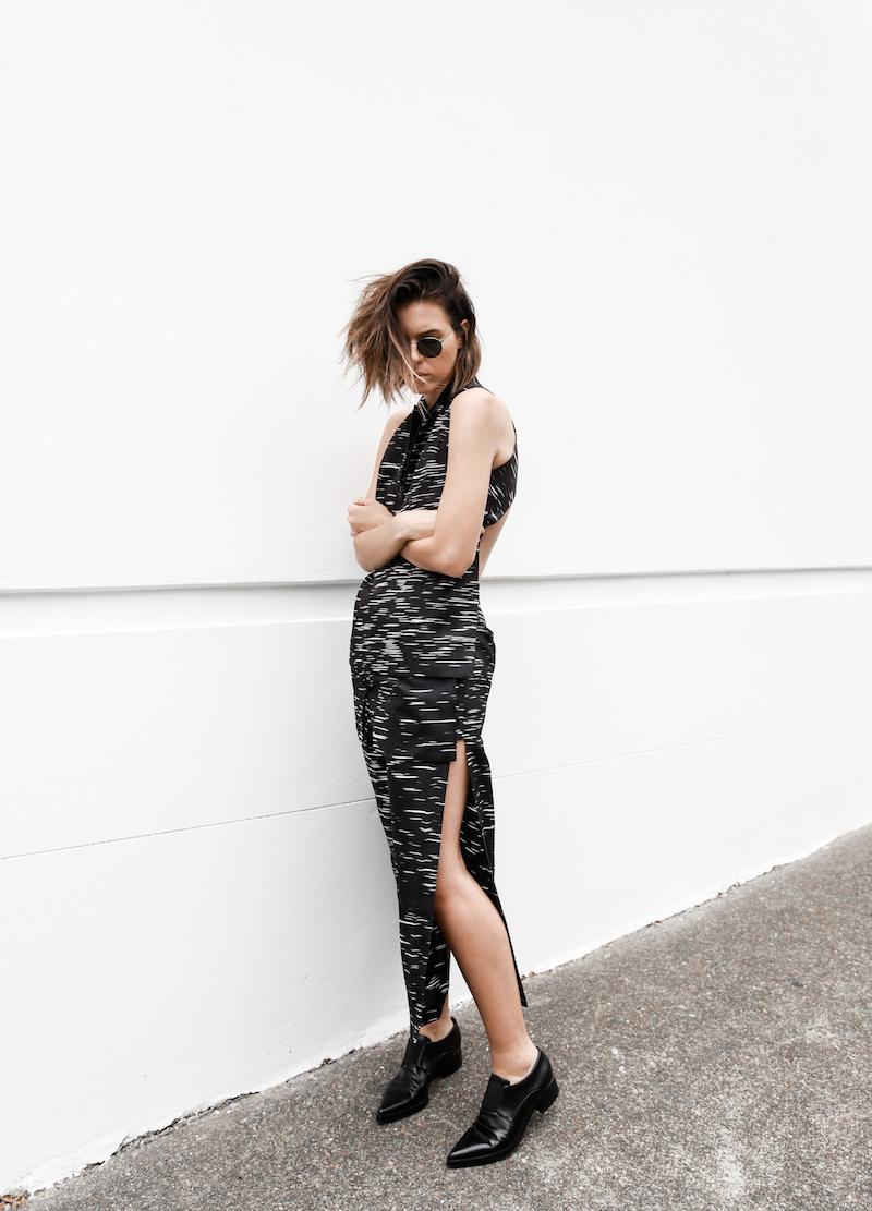 modern print black white monochrome street style minimal fashion blog stella mccartney loafers josh goot modern legacy