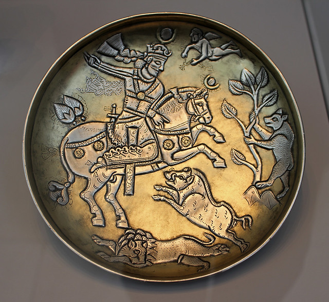 Dish representing a Sasanian ruler in a hunting scene