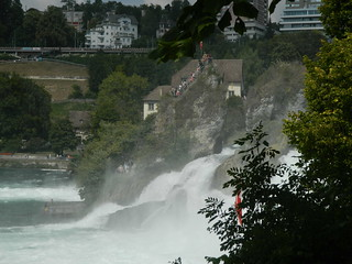 Image of Rhine Falls near Laufen. switzerland waterfall schaffhausen falls rhine 2015