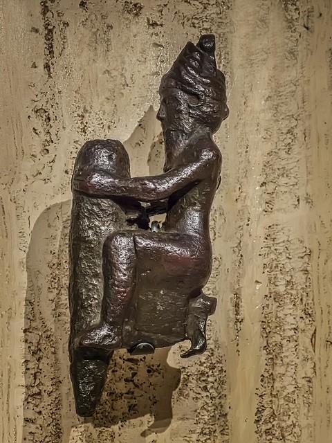 Figural foundation peg from Girsu (modern Tello) Second Dynasty of Lagash reign of Gudea 2090 BCE Bronze