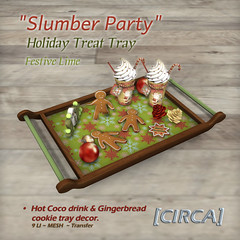 "[CIRCA] - ""Slumber Party"" - Holiday Treat Tray - Festive Lime"