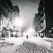New York City Snow at Night by Vivienne Gucwa