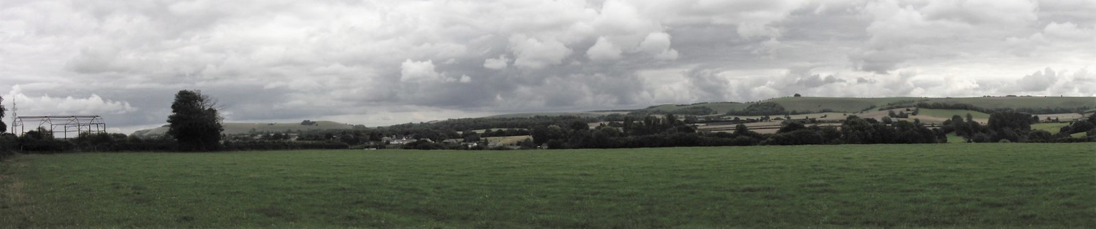 Panoramic View from Horse Hill, above Ludwell SWC Walk 251 Tisbury Circular via Ludwell and Berwick St. John