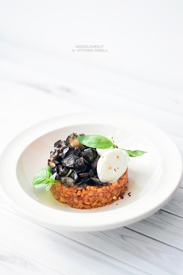 Farrotto alla siciliana con mozzarella di bufala