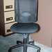 Black mesh back swival chair