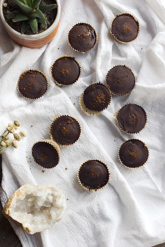 Dark Chocolate Pumpkin Butter Cups