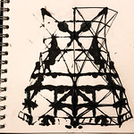 Cooling tower ink sketch
