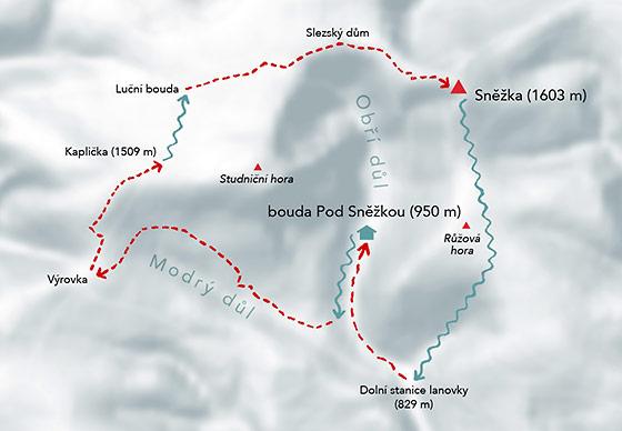 Skialpinistická túra na Sněžku