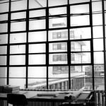 Atelie im Hauptgebäude des Bauhaus Dessau Ensemple - analog, S/W, 6x6