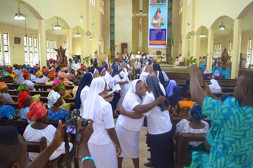 Congratulations to Sisters Monica Funmilayo Ogodo, Francisca Chioma Nwachukwu, Mary John and Juliana Adebimpe Egbeleke who made their final vows at the Sacred Heart Catholic Cathedral, Akure, on August 25, 2015, St Louis Day