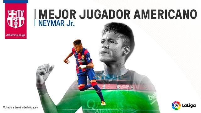 Premios La Liga: Neymar - Mejor Jugador Americano