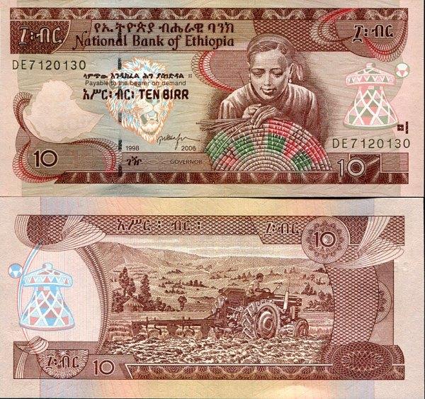 10 Birr Etiópia 2000/2006