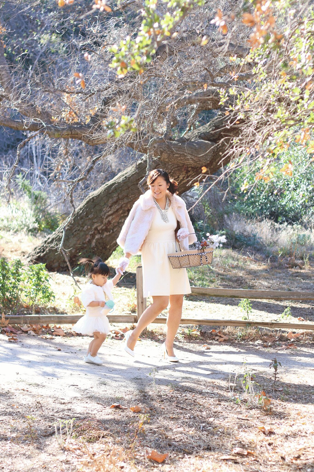 simplyxclassic, winter wonderland, holiday, christmas outfit, banana republic, faux fur, mommy and me, matching outfits, baby girl, mom blogger, fashion blog, style, orange county, ootd,