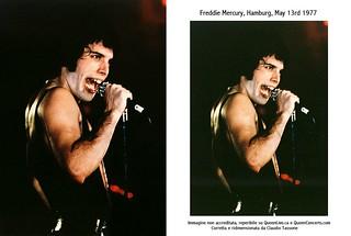 Freddie Mercury, Queen live @ Amburgo - 1977