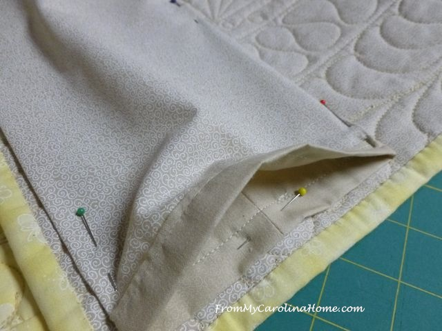 Adding a hanging sleeve to a quilt for show
