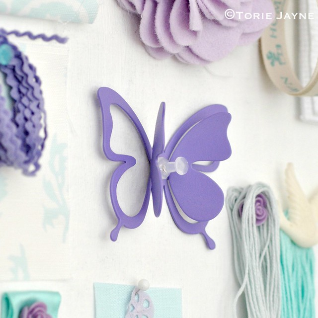 Lavender butterfly hook