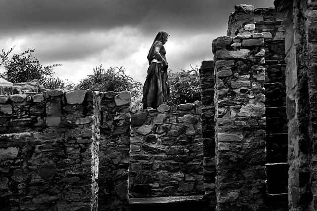 Lady at Old Fort [