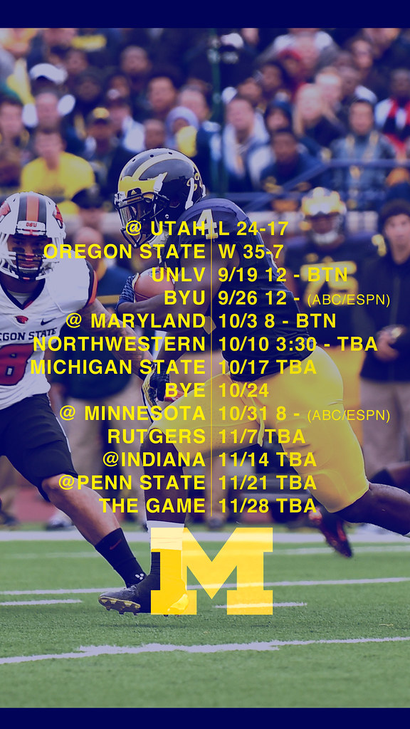 michigan football iphone wallpaper iphone football schedule wallpapers mgoblog 15683