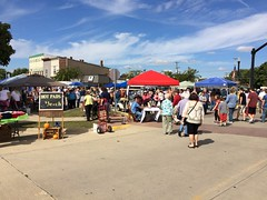 General view of the Apple Festival booths