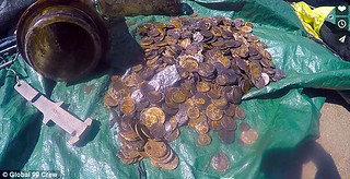 New zealand harbor coin cache