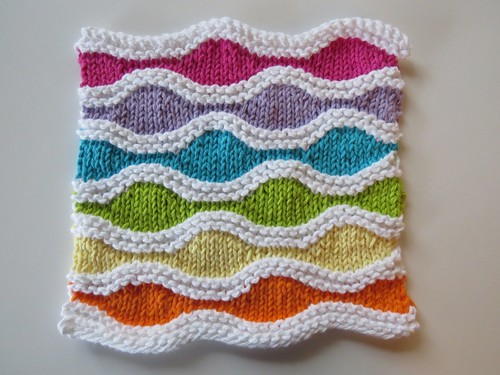 Waves of Colour Dishcloth