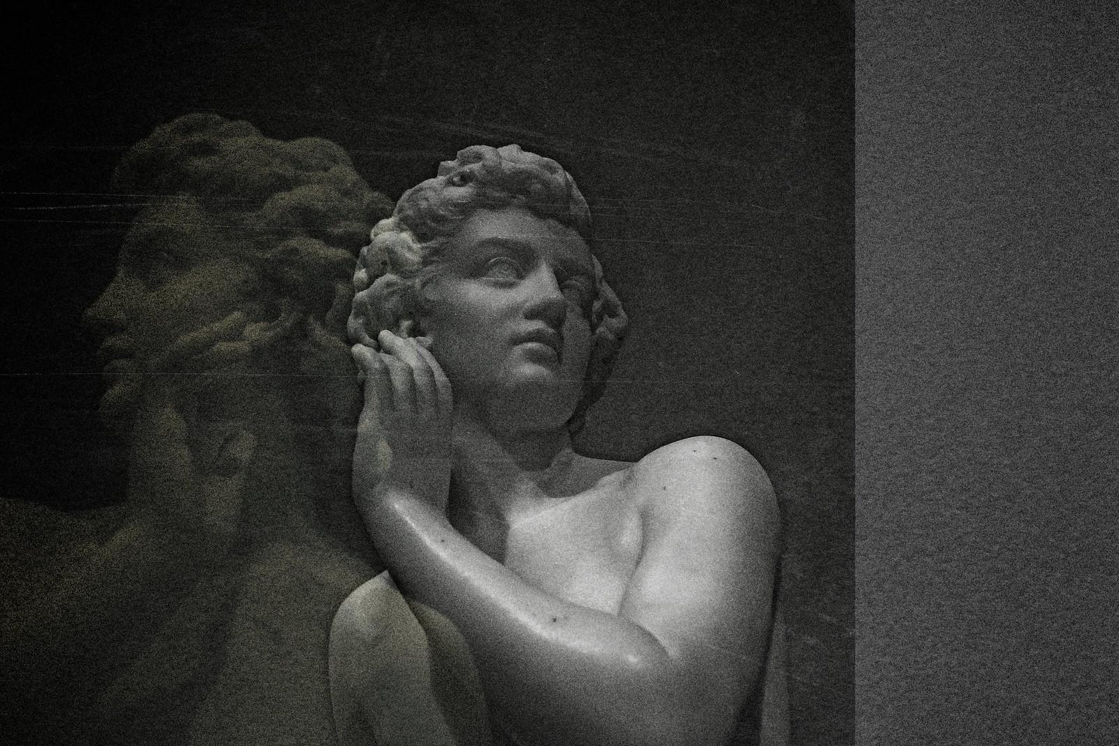 "Portrait of Larkin Goldsmith Mead's 1865 sculpture ""Semi-Nude Youth"""