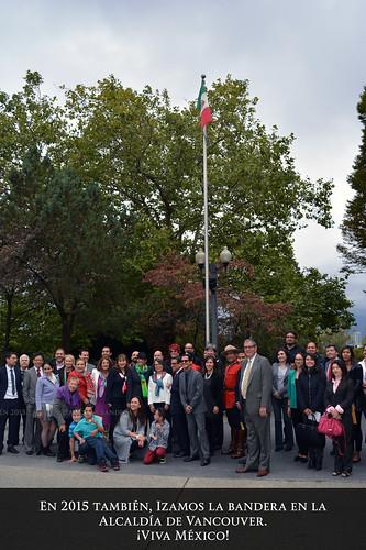 La bandera mexicana en la alcaldía de Vancouver