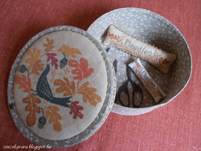 blackbird, design, tutorial, autumn song, box , pincushion (3)