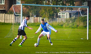 Cliffe FC Sunday 2 - 13 Dunnington (York FA Cup) 4Oct15