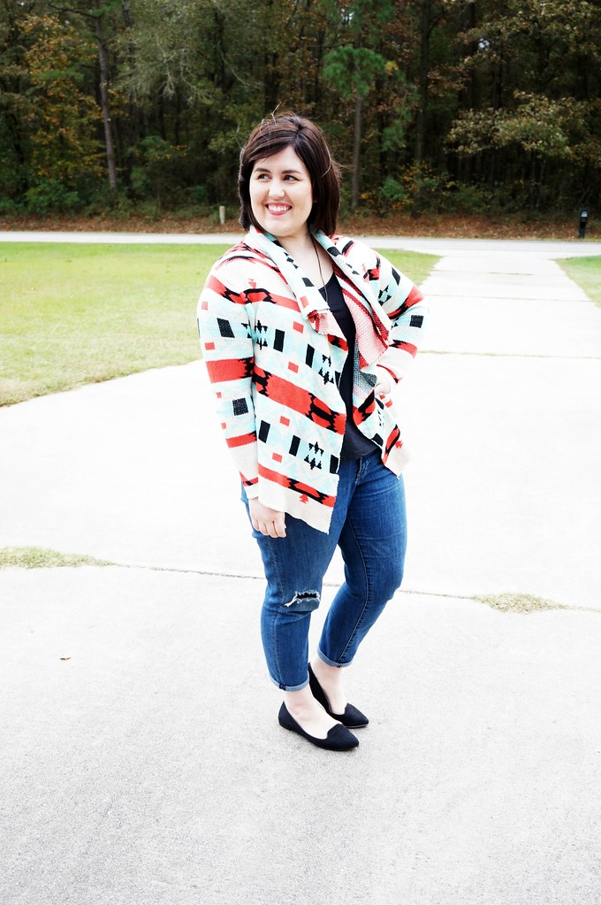 Shein Aztec Colorful Cardigan 1