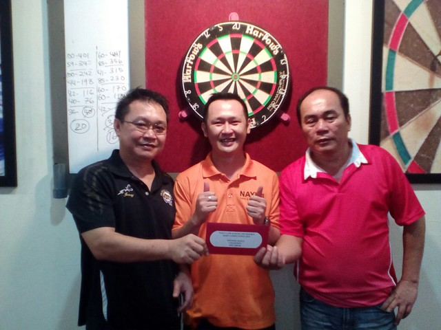 Nayu Cafe & Dart 2nd Double Competition 2015. Champion PPG DTRS Jerry & Frankie.
