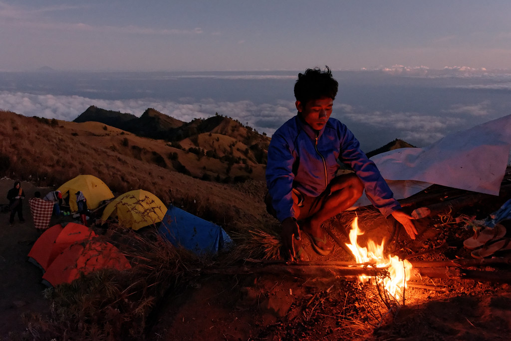 Rinjani camp - Day 3, morning