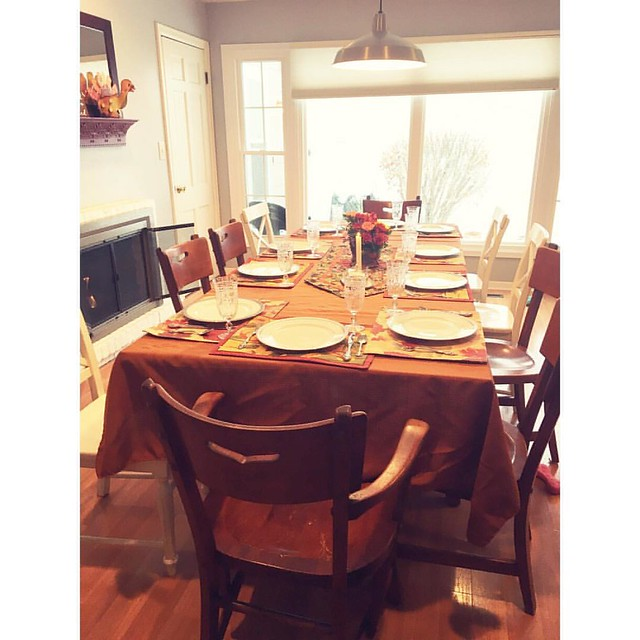 Table one ready to go! #happythanksgiving