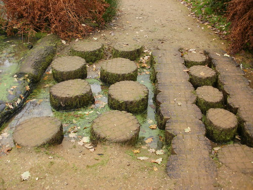Wooden stepping stones