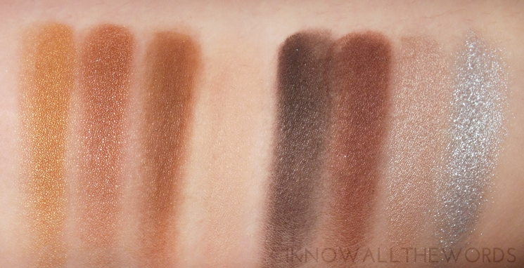 Sephora Collection Ombre Eyeshadow Palette swatches (4)