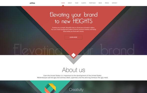 Creativemarket Anna v1.1 - Flat Creative Design