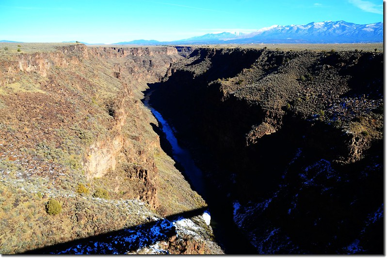 Looking down onto Rio Grande Gorge from the top of the Rio Grande Gorge Bridge 1