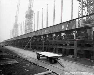 Laying a ship's keel at Readhead's shipyard