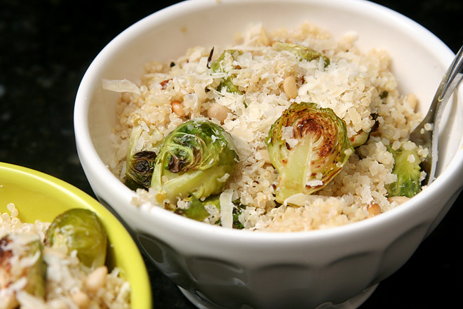 quinoa brussels sprouts pine nuts 4