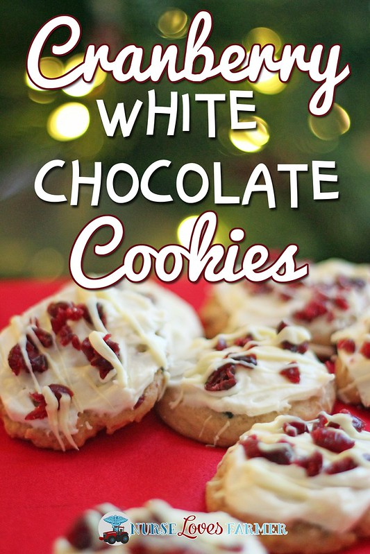 Cranberry White Chocolate Cookies with Cream Cheese Frosting. Soft and decadent cranberry white chocolate cookies with cream cheese frosting. A fancy and delicious cookie!