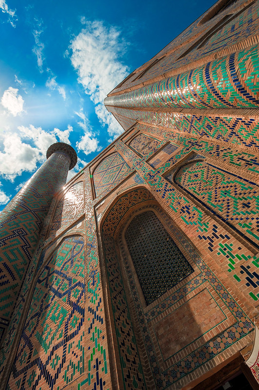 Médersa Oulougbek, Samarcande, Ouzbékistan, mai