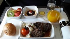 CX Inflight Lunch: Grilled Lamb Rack