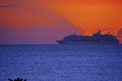 Cruise Ship leaving St. John's, Antigua.