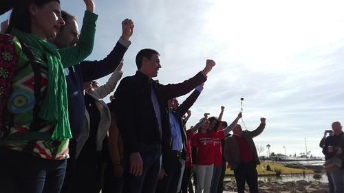 Acto con la militancia de Pedro Sánchez en el Lago de la Vida de Entrenúcleos