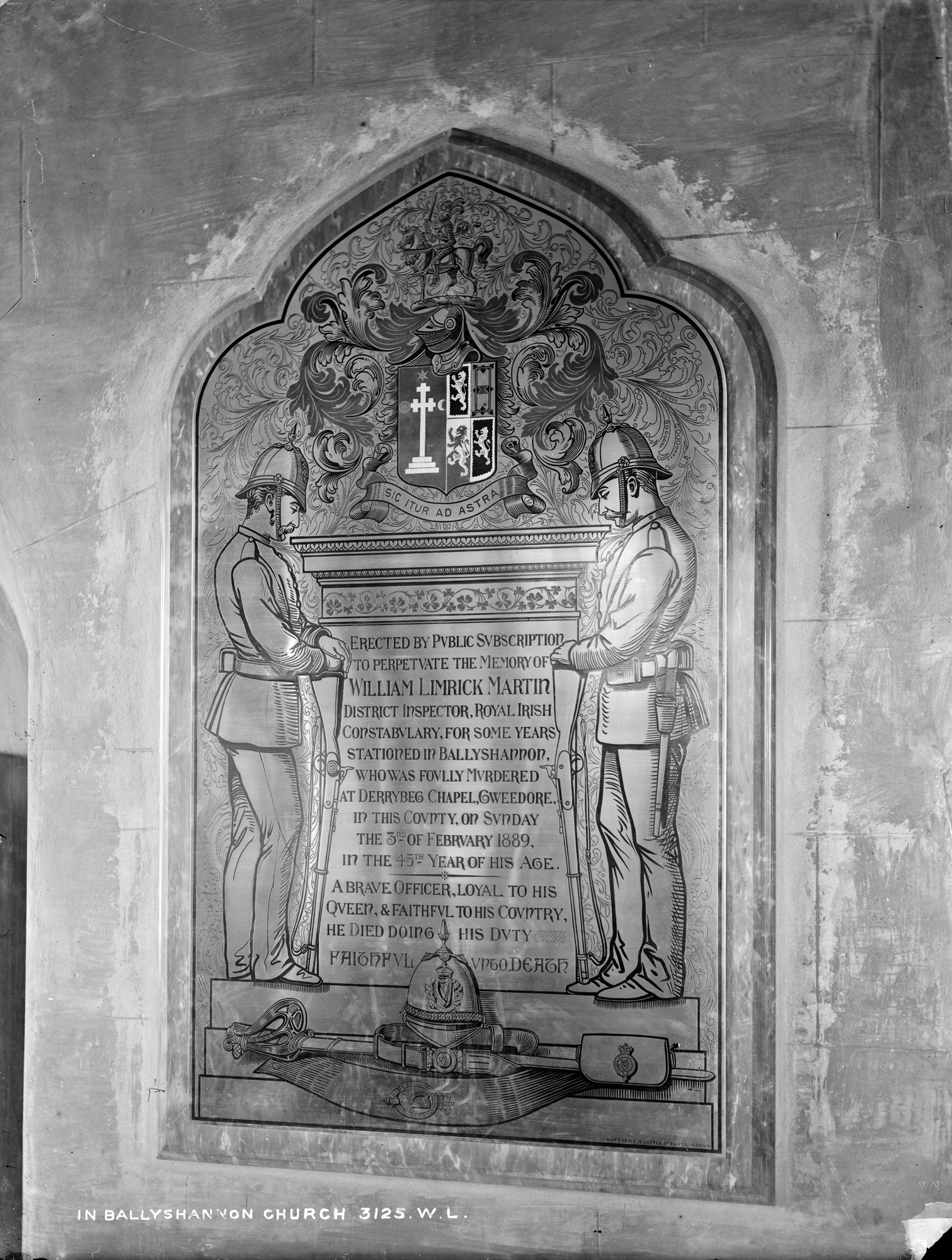 Church, Interior Memorial, Ballyshannon, Co. Donegal