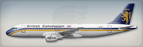 Airbus A320 profile - British Caledonian