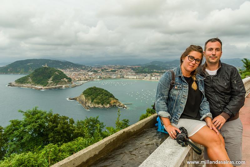 Un día gris en San Sebastián, desde el mirador del Monte Higueldo